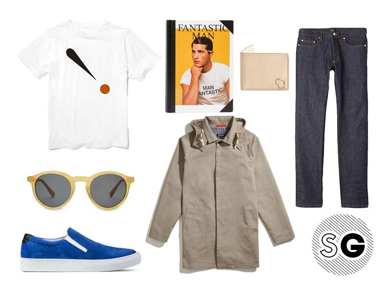 sunny, yellow, unpredictable, spring, weather, blue suede shoes, dark denim, saturdays nyc,, font, typography