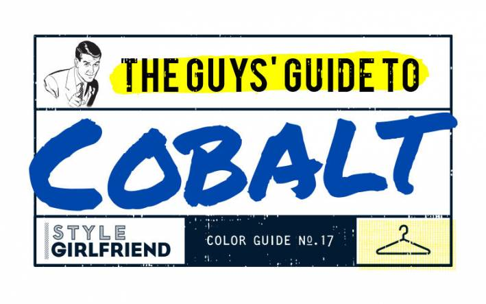 style girlfriend, color guide, cobalt blue,