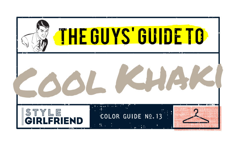 color guide, menswear, outfit inspiration, how to wear, khaki