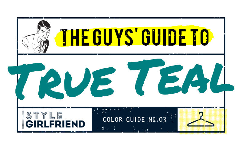 color guide, menswear, outfit inspiration, how to wear, teal