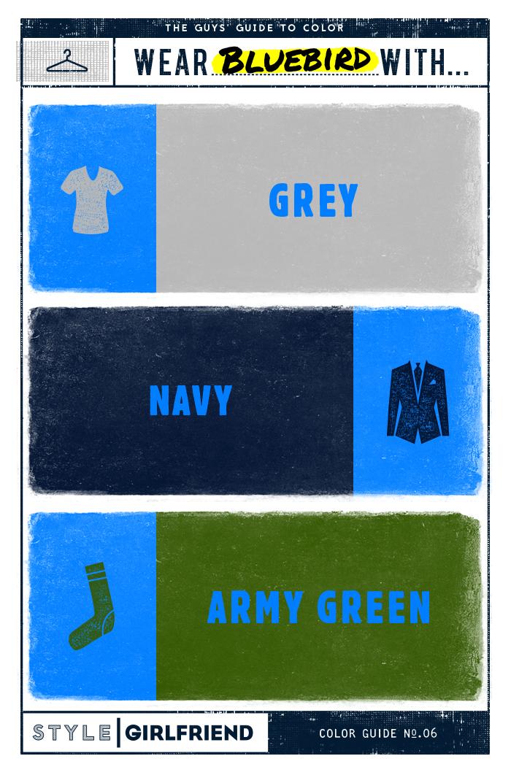 bluebird, bluebird blue, how to wear bluebird blue, color guide, men's style, men's fashion, menswear