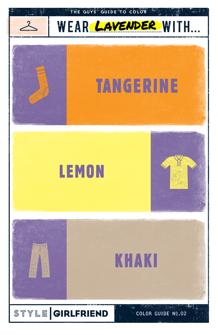 Lavender pairing color guide, how to wear lavender