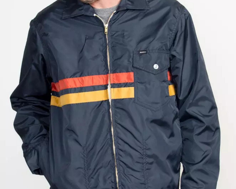 rvca x birdwell, coaches jacket, coach jacket