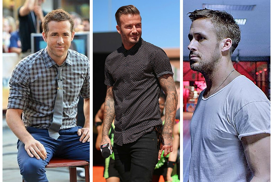tips for men to look instantly more attractive, rolled sleeves, ryan reynolds rolled sleeves, david beckham rolled sleeves, ryan gosling rolled sleeves