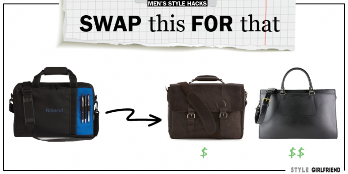 style upgrade, style swaps, swap this for that, sunglasses, briefcase