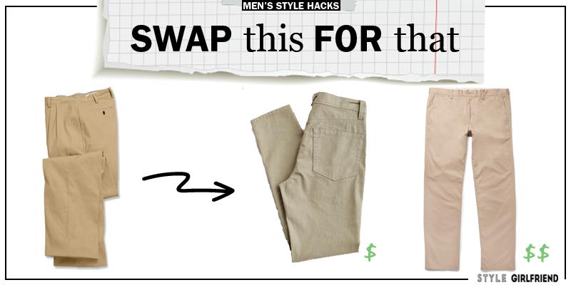 style upgrade, style swaps, swap this for that, khakis, men's khakis, khaki pants