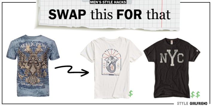style upgrade, style swaps, swap this for that, mens graphic tee, graphic t-shirt