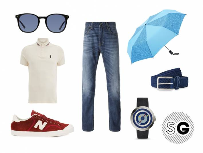 washed, worn, americana, blue jeans, blue jean baby, la lady, seamstress for the man, red suede, new balance, swell, keith haring, art, red white and blue, april showers