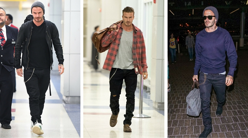 tips to travel better, travel tips, easier travel, travel hacks, airport style, celeb airport style, men's style, men's airport style, best luggage, best suitcase, travel like a local, eat like a local, david beckham airport style