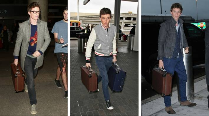 tips to travel better, travel tips, easier travel, travel hacks, airport style, celeb airport style, men's style, men's airport style, best luggage, best suitcase, travel like a local, eat like a local, david beckham airport style, eddie redmayne airport style