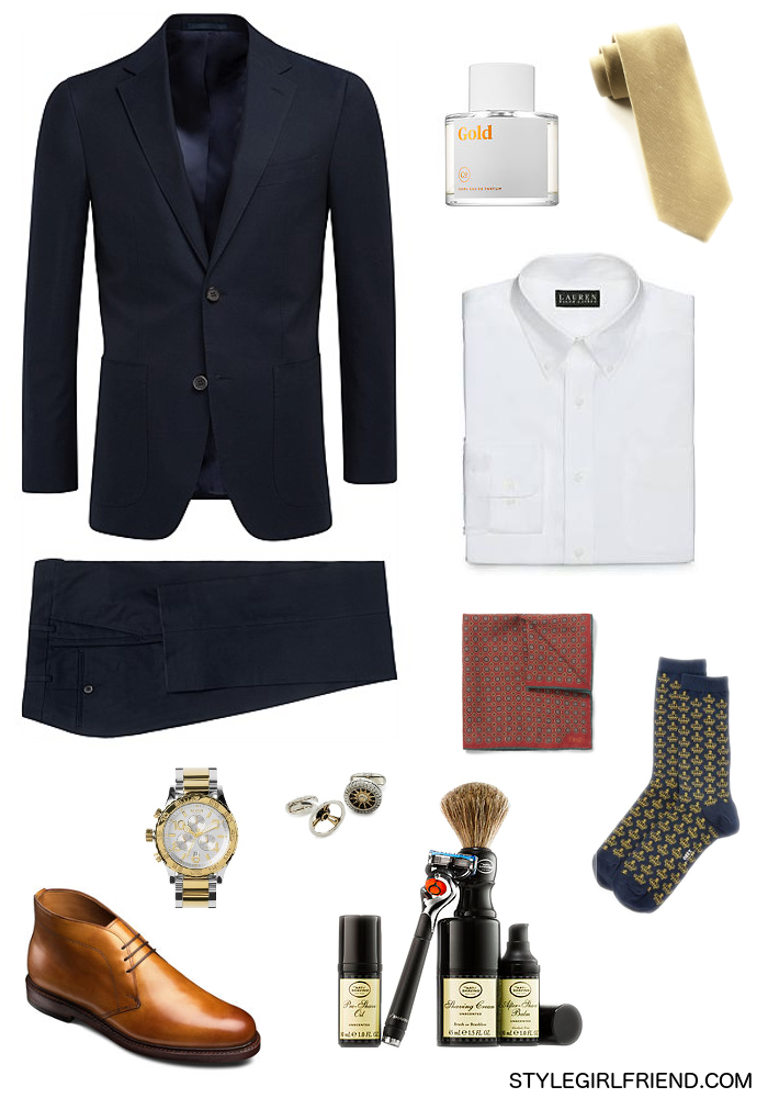 gold, navy, suiting, menswear, office, formal