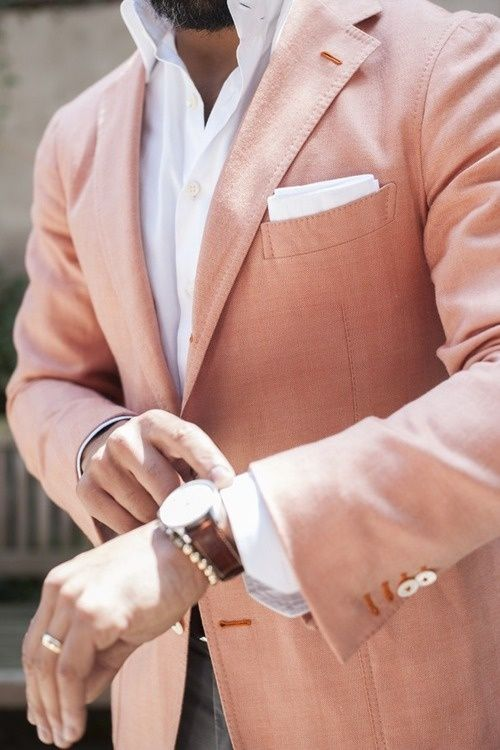 how to wear salmon sport coat