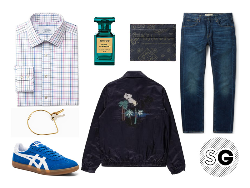 going out outfit, thursday night, coach jacket, embroidery, paul smith, red ear, made and crafted, levis, tom ford