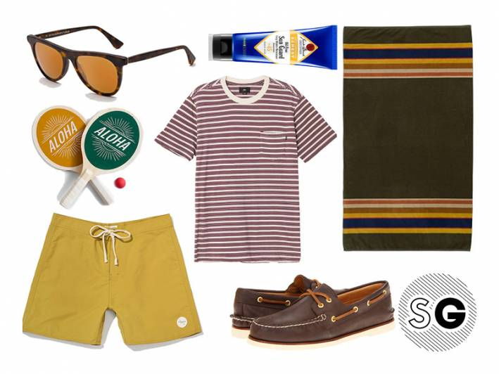 beach, shore, vintage, mustard, pendleton, boat shoes, retrosuperfuture, retro, michael cera, jack black, sperry, aloha, paddle ball