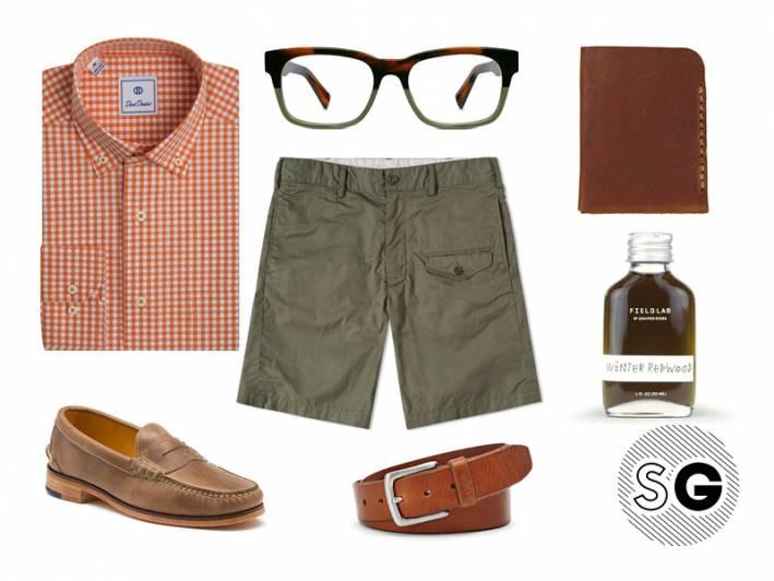 gingham, orange, military, cargo, leather, bass