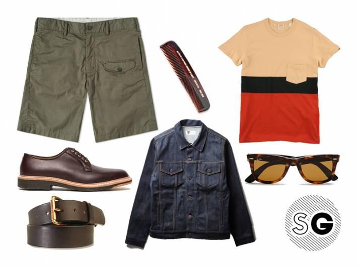 snoopy, stripes, levi's, modern cargo short, denim jacket
