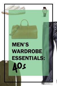 men's wardrobe essentials for your 40s pinterest pin