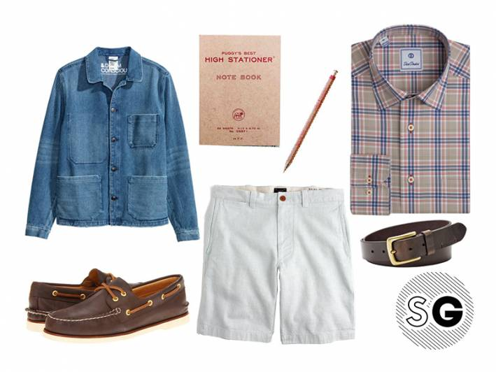 preppy, david donahue, hm, boat shoes, sperry, linen, j crew, puggy's best, omoi zakka, tous les jour, days pen