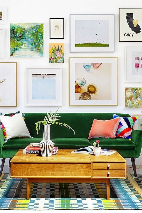 colorful home decor living room