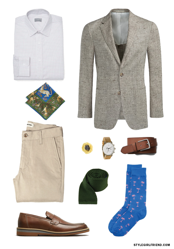 how to wear evergreen, evergreens, how to wear green, men's style, summer style, faherty swim trunks, penny loafers, green shirt