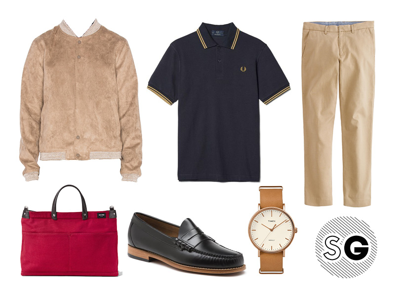 polo, neutral, black and tan, pop color, timex, fred perry, native youth, bass