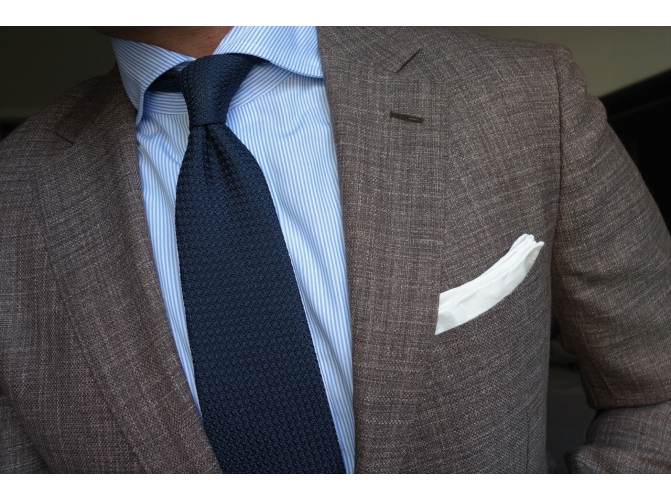 Men's Wardrobe Essential: Navy Grenadine Tie