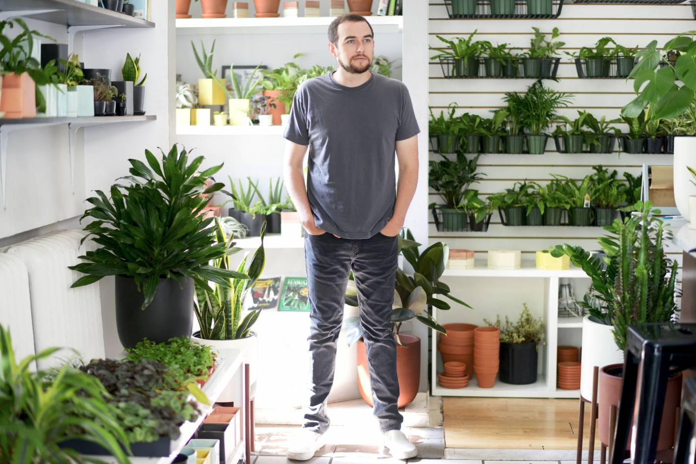 andrew the sill, the sill, plants, office style, what he wore, what he wore the sill office style