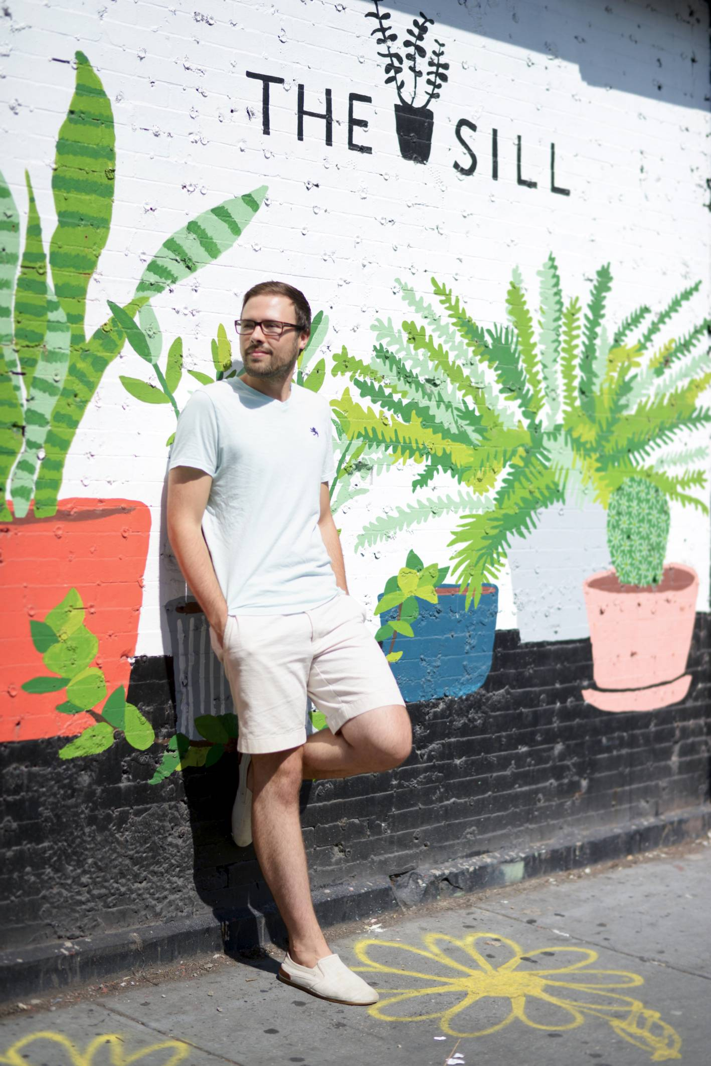 christopher the sill, the sill, plants, office style, what he wore, what he wore the sill office style