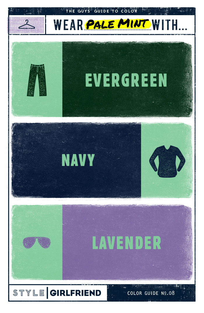 pale mint, mint, how to wear pale mint, how to wear pale mint, color guide, the guy's guide to wearing pale mint