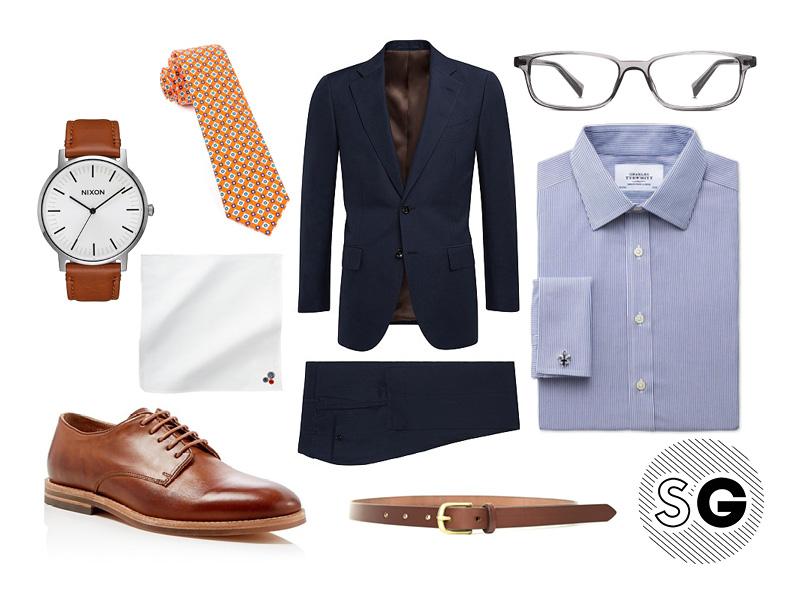 work, office style, work wear, suit, suit supply, jack spade, pocket square, nixon