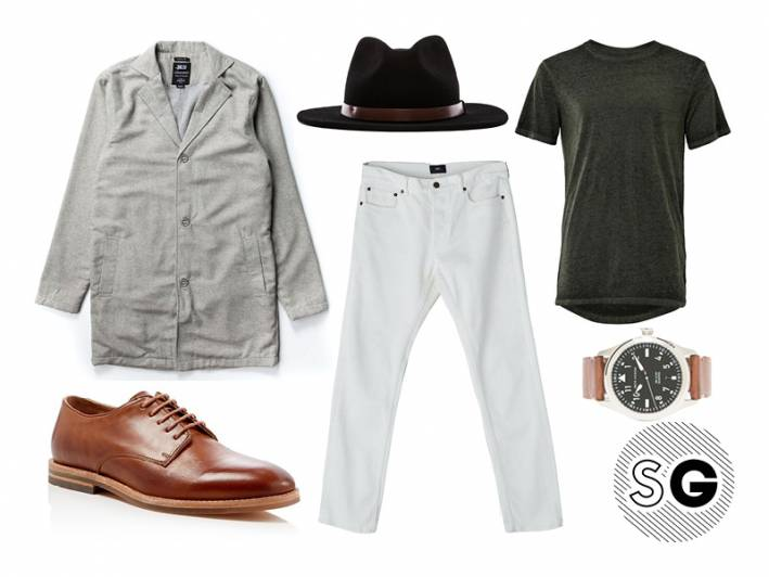 casual, elevated casual, white denim, white pants, transitional style, in between weather