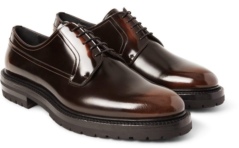 lug sole shoes men, brown shoes men, mr. porter, burberry lug sole shoes,