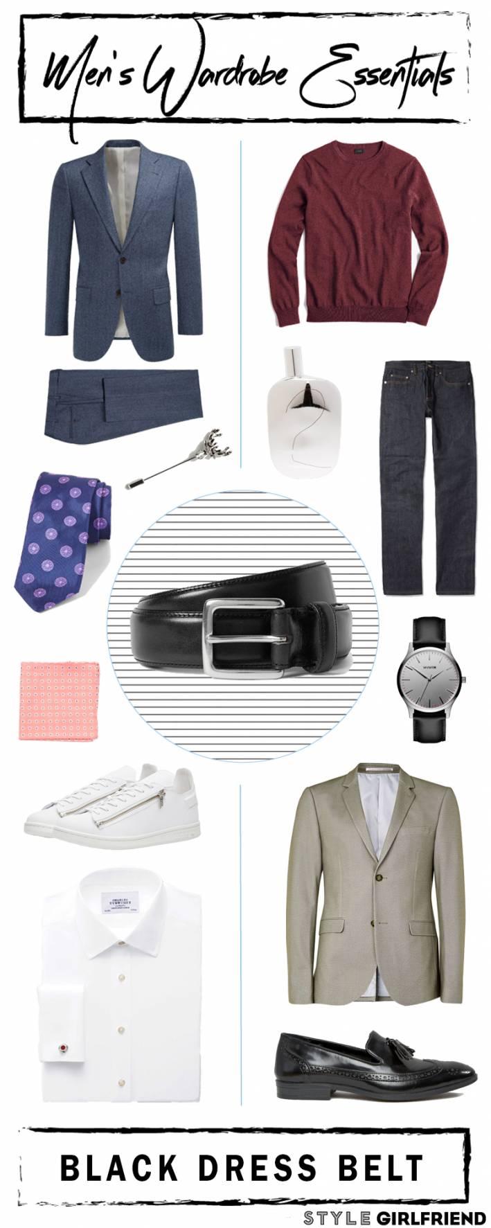 black dress belt, black belt, dress belt, men's wardrobe essentials, men's wardrobe essentials black dress belt, men's style, men's fashion, menswear