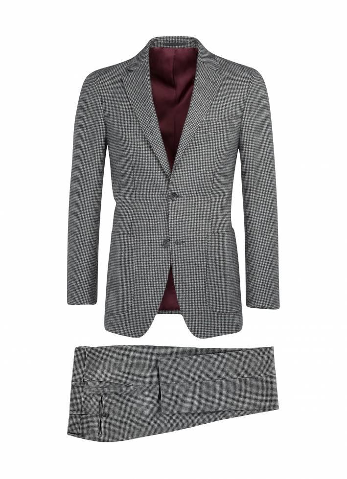 Pied De Poule Grey Suit, Suit Supply, Houndstooth,