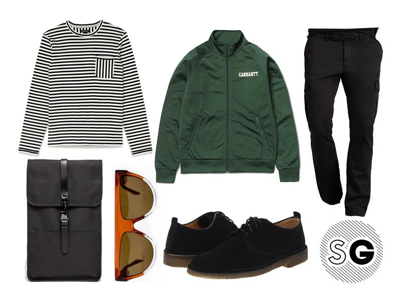 breton stripe, bzr, cargos, slim cargos, rains, track jacket, fall, man chic