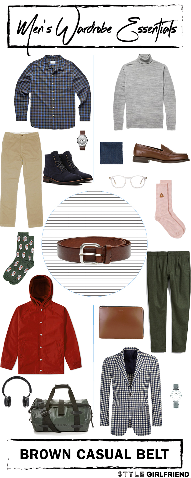brown casual belt, style girlfirend, outfit laydown, menswear, fall mens look,