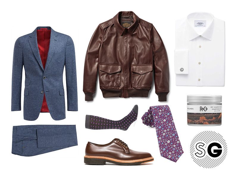 office style, work style, suit supply, leather jacket, pilot jacket