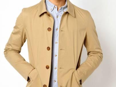 Men's Wardrobe Essential: Khaki Single Breasted Trench Coat