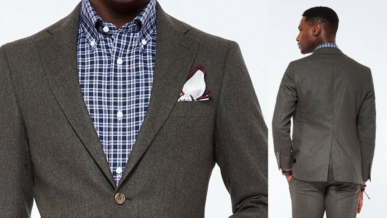 indochino olive suit