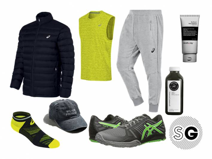pilates, asics, fuzex tr, pressed juicery, puffer coat, exercise, workout