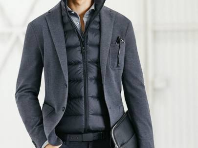 Ashley's Obsessions: Men's Puffer Jackets and Vests at Work