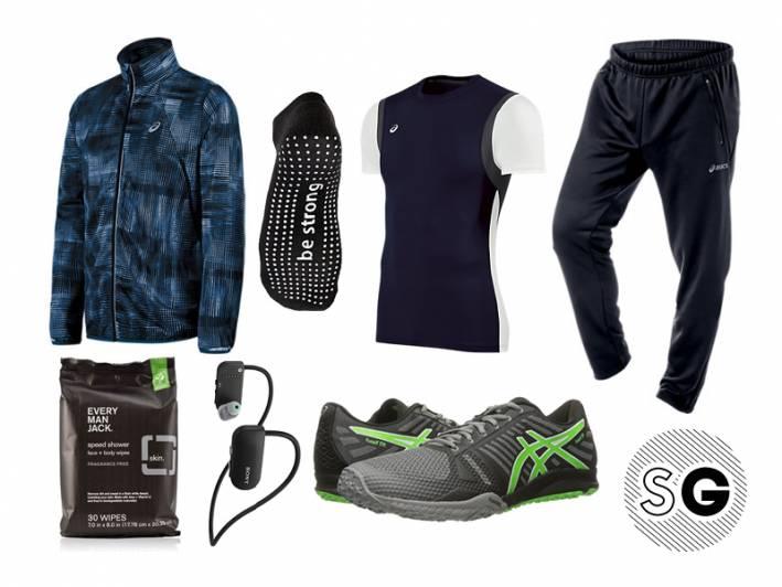 barre, asics, fuzex tr, sticky socks, workout, exercise, every man jack