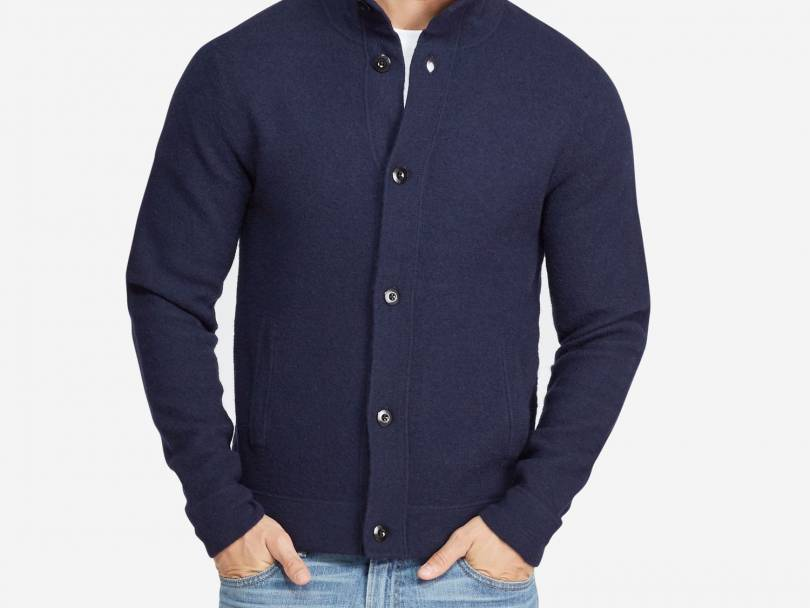 Men's Wardrobe Essential: Navy Wool Cardigan