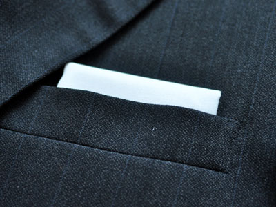 Men's Wardrobe Essential: White Cotton Pocket Square