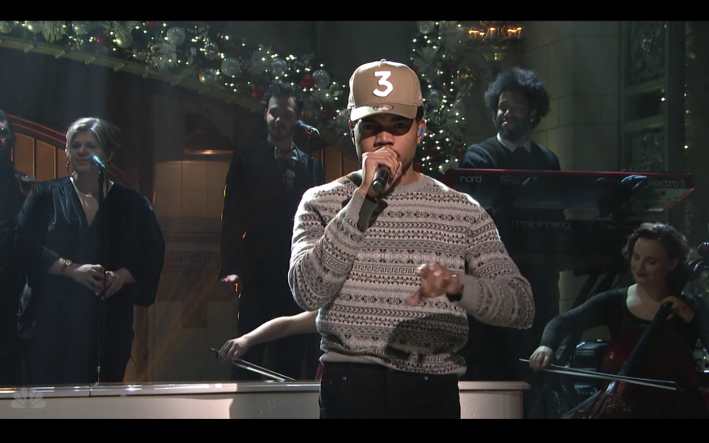 5 Days 5 Ways Chance The Rappers Snl Sweater Style Girlfriend