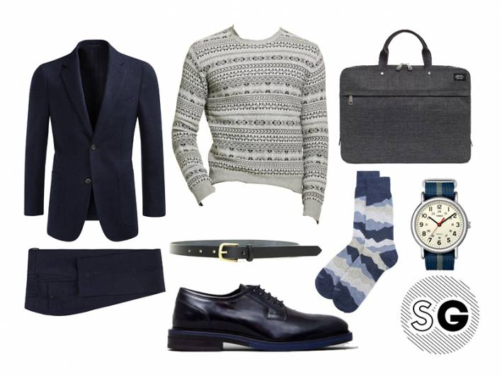 chance the rapper, polo ralph lauren, work, suit, fair isle, holiday party, office christmas party