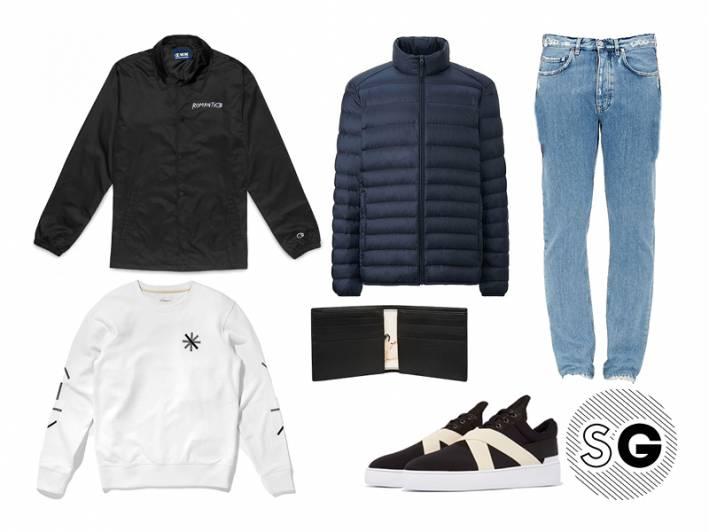 casual, normcore, saturdays, dad style, paul smith, puffer, puffer jacket, wood wood, champion, athleisure, light wash jeans, coach jacket, collab, uniqlo, saturdays, filling pieces