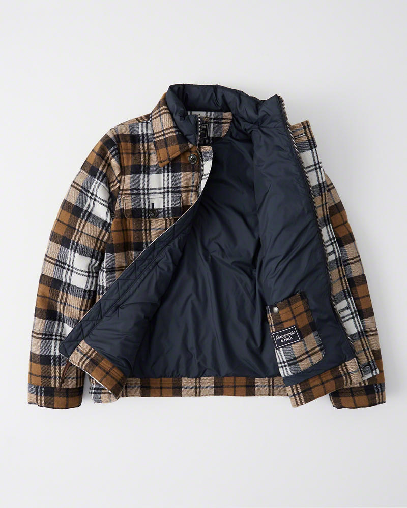 men's wool plaid coat