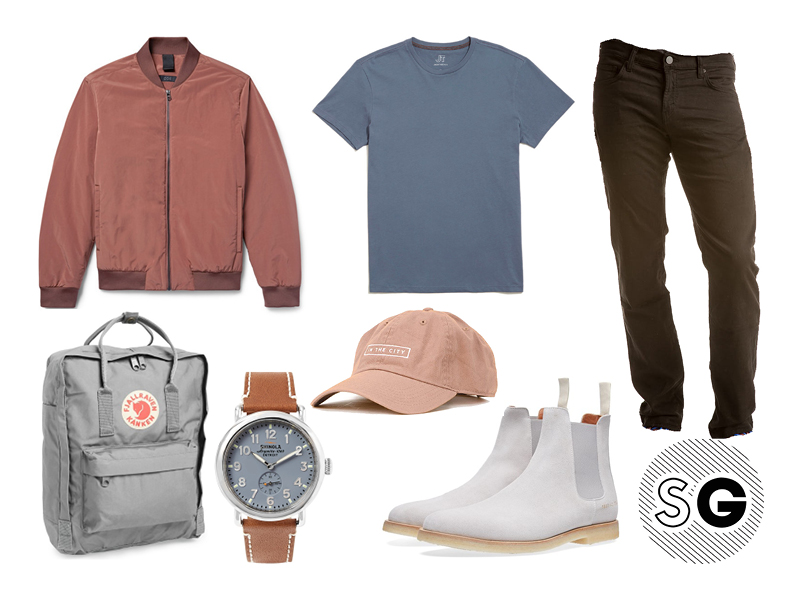 french terry jeans, jbrand, common projects, fjallraven, cos, jackthreads, casual, muted, minimal, shinola