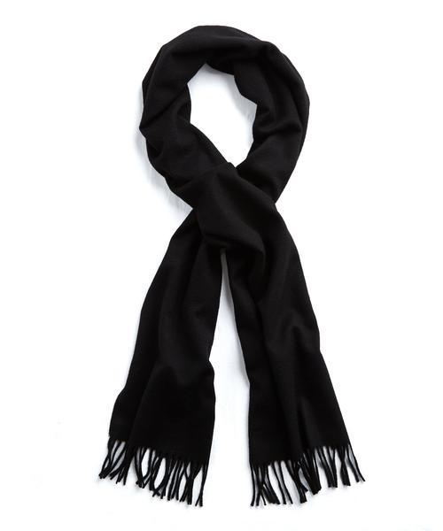 joshua ellis black cashmere scarf